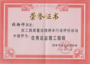 张翰祥两年治理优秀总监